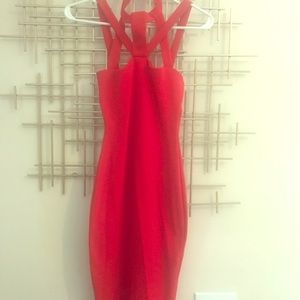 Red midi dress! Perfect for Valentines!